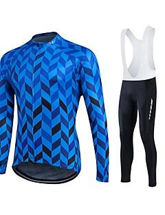 fastcute Camisa para Ciclismo Homens Unisexo Manga Comprida MotoJaqueta Calças Camisa Pulôver Moletom Jaquetas em Velocino / Lã