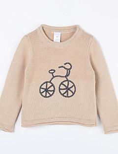 Mädchen Pullover & Cardigan-Lässig/Alltäglich einfarbig Baumwolle Herbst Braun