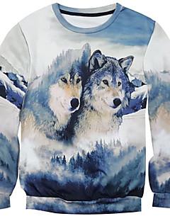 New Fashion Men Wolf Printed Pullover Long Sleeve 3d Sweatshirt