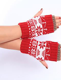kvinders vinter uld strikning dejlige sne fawn handsker