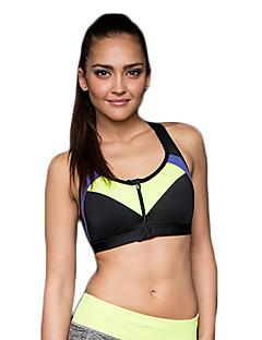 Women's Sexy Sports Bra Wireless Patchwork Front Zipper Underwear Fitness Running Yoga Tops