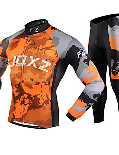 FJQXZ® Cycling Jacket with Pants Men's Long Sleeve BikeThermal / Warm / Windproof / Anti-Fuzz / Lightweight Materials / 3D Pad /