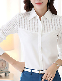 Women's Wild Cut Out OL Solid Long Sleeve Chiffon Shirt