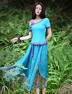 Kvinders Boheme Maxi Nederdele Mikroelastisk Polyester