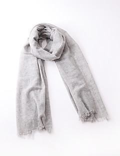 Unisex Cashmere Wool Scarf Casual Rectangle Pink Gray Solid