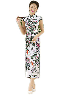 N/A 한 조각 짧은 소매 긴 길이 그린 로리타 드레스 폴리에스터