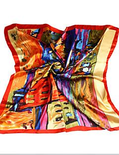 Žena Vintage / Party / Pracovní / Na běžné nošení Polyester Šátek,Čtvercový Tisk