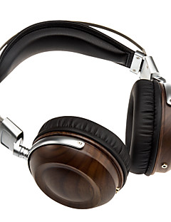 Stainless Steel Handcraft Earbuds Wood Headsets Noise Isolation HI-FI Music Headphones Selected 50mm  Speaker /Drivers