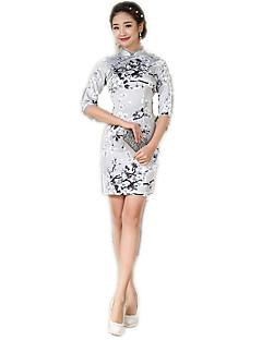 Einteilig/Kleid Cosplay Lolita Kleider Blumen Mittlerer Länge Zum Polyester