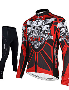 TASDAN חולצה וטייץ לרכיבה לגברים שרוול ארוך אופניים נושם ייבוש מהיר רוכסן קדמי דחיסה 3D לוח רצועות מחזירי אור כיס אחורי תומך זיעהמכנסיים