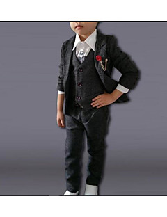 Boy's Casual/Daily Solid Suit & BlazerCotton Winter / Spring / Fall Gray