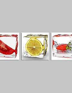 grøntsager og frugter lemon lærred væg kunst til køkken indretning klar til at hænge