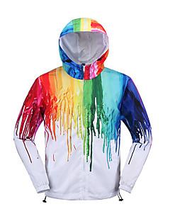 Women's Casual/Daily Street chic Fall JacketsSolid Hooded Long Sleeve White Rayon Medium