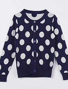 Mädchen Pullover & Cardigan-Lässig/Alltäglich Punkte Baumwolle Herbst Blau
