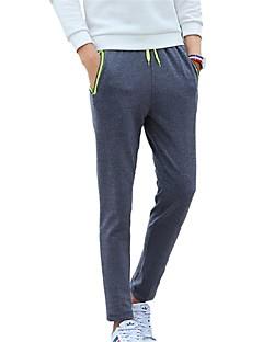 Men's Solid Casual / Sport SweatpantsPolyester Black / Blue / Gray