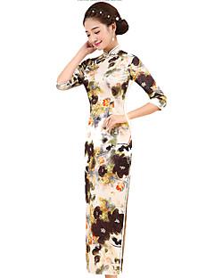 Szoknya Klasszikus és hagyományos Lolita Cosplay Lolita ruhák Sárga Régies (Vintage) 3/4-es ujj Hosszú hossz Mert Selyem