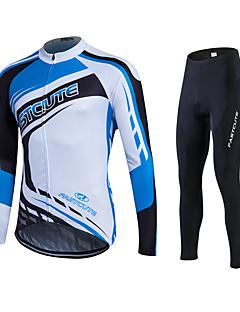 fastcute שרוול ארוך חולצה וטייץ לרכיבה לנשים לגברים יוניסקס אופניים מכנסיים אימונית ג'רזי טייץ רכיבה על אופניים צמרות מדים בסטיםנושם