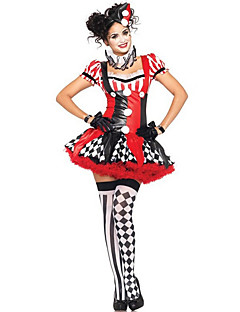 Cosplay Costumes / Party Costume Halloween Red Patchwork Terylene Dress / More Accessories Halloween/Christmas/New Year