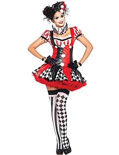 Cosplay Kostýmy / Maškarní / Kostým na Večírek Burlesque/Klaun Festival/Svátek Halloweenské kostýmy Červená Patchwork Šaty / Více doplňků