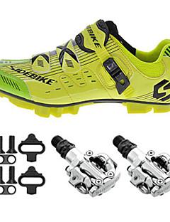 sidebike Sapatos para Ciclismo Unisexo Ao ar Livre / Bicicleta De Montanha Tênis Húmido / Almofadado Amarelo