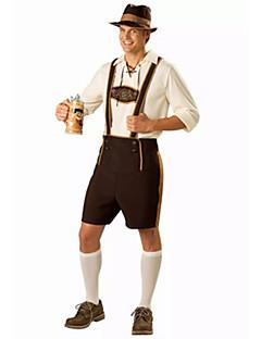 Cosplay-Asut Juhla-asu Oktoberfest Tarjoilija Festivaali/loma Halloween-asut Laiha kahvi Valkoinen Ruskea Yhtenäinen Toppi Housut Lisää