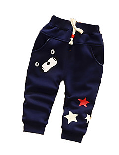 Baby Casual/Daily Print PantsCotton Winter Blue / Red / Gray