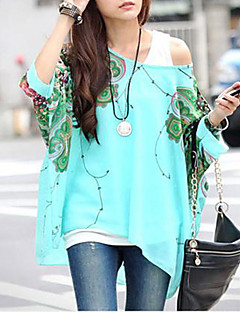 vrouwen chiffon toevallige bloemenprint losse blouse
