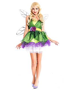 Costumi Cosplay Vestito da Serata Elegante Da principessa Fiabe Feste/vacanze Costumi Halloween Verde Collage Abito Altri accessori