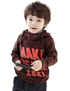 Boy's Cotton Fashion Simple Spring/Fall Casual/Daily Print Fleece Lining Keep Warm Hoodie Sweatshirt Sport Shirt