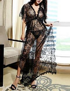 Ženy Šaty Noční prádlo Sexy / Krajka Jednobarevné-Krajka tenké Černá Dámské