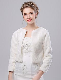 Women's Wrap Shrugs Faux Fur / Imitation Cashmere Wedding / Party/Evening Pattern