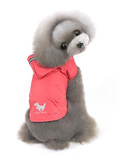 pejsky mikiny Pláštěnka Oblečení pro psy Zima Jaro/podzim Jednobarevné Voděodolný Rüzgar Geçirmez Žlutá Červená Modrá
