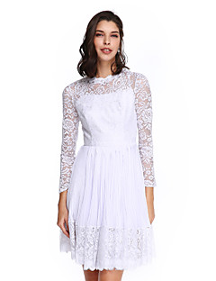 TS Couture® Cocktail Party Dress A-line High Neck Knee-length Chiffon / Lace with Draping