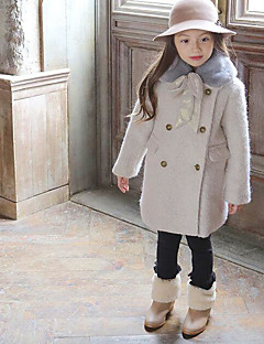 Girl's Casual/Daily Solid Down & Cotton PaddedCotton Winter Beige / Gray