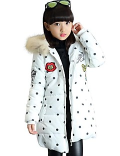 Girl's Casual/Daily Print Down & Cotton PaddedPolyester Winter Black / Red / White