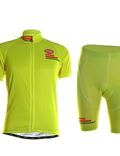 TVSSS חולצת ג'רסי ומכנס קצר לרכיבה לגברים שרוול קצר אופנייםייבוש מהיר לביש חדירות גבוהה לאוויר (מעל 15,000 גרם) דחיסה חומרים קלים 3D לוח