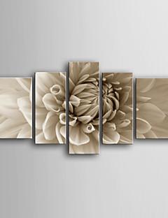 Botanisch Leinwand drucken Fünf Panele Fertig zum Aufhängen , Vertikal