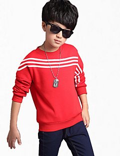 Boy Casual/Daily Striped Hoodie & Sweatshirt,Cotton Winter Long Sleeve Regular