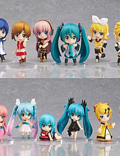 נתוני פעילות אנימה קיבל השראה מ Vocaloid Hatsune Miku PVC 6.5 CM צעצועי דגם בובת צעצוע
