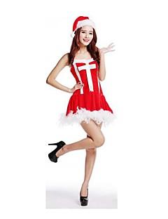 Festival/Højtider Halloween Kostumer Rød Ensfarvet Nederdel / Hatte Jul Kvindelig Pleuche
