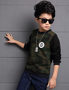Boy's Casual/Daily Patchwork Hoodie & SweatshirtCotton / Rayon Winter / Spring / Fall Green / Red