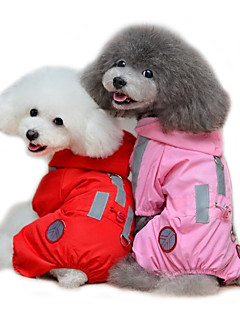 Cat / Dog Rain Coat Red / Pink Dog Clothes Summer / Spring/Fall Solid Waterproof