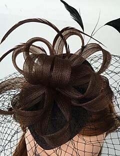 Ženy Peří Síť Přílba-Svatba Zvláštní příležitost Neformální Ozdoby do vlasů francouzský závoj Jeden díl