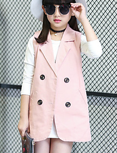 Girl's Casual/Daily Solid VestCotton All Seasons Black / Pink / Red