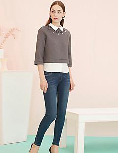 Damen Hose - Einfach Jeans Baumwolle / Polyester Mikro-elastisch