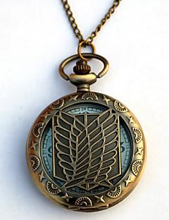 שעון קיבל השראה מ Attack on Titan Eren Jager אנימה אביזרי קוספליי שעון מוזהב סגסוגת זכר