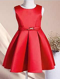 Mädchen Kleid Party/Cocktail einfarbig Baumwolle / Polyester Ganzjährig Ärmellos