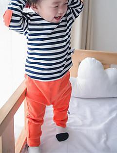 Baby Bukser Bomuld Ensfarvet Afslappet/Hverdag Forår