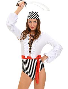 Fantasias de Cosplay Festa a Fantasia Baile de Máscara Pirata Costumes carreira Festival/Celebração Trajes da Noite das Bruxas Branco