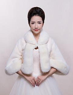 Women's Wrap Shrugs Faux Fur Wedding / Party/Evening / Office & Career Animal Print